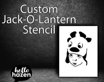 Custom Jack-O-Lantern Pattern, Pumpkin Carving Pattern, Pumpkin Pattern, Pumpkin Face, Custom Jack O Lantern, Custom Halloween Pattern