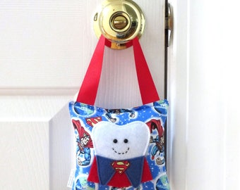Boys Tooth Fairy Pillow - Personalized Tooth Fairy Pillow - Superman