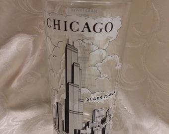Chicago Sears Tower Souvenir Glass