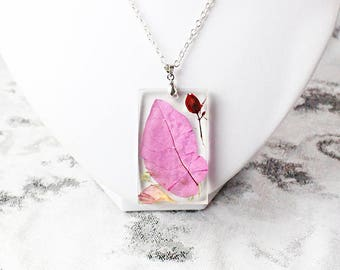 colorful necklace unique necklace jewelry/for/mom gift moss necklace purple jewelry pink pendant rainbow necklace statement necklace Рю113