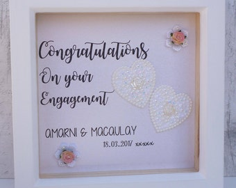 personalised engagement gift engagement present handmade engagement gift engagement frame personalised frame - Engagement Frame