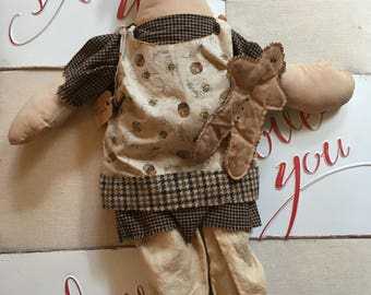 Primitive Raggedy Ann with gingerbread cookie FAAP