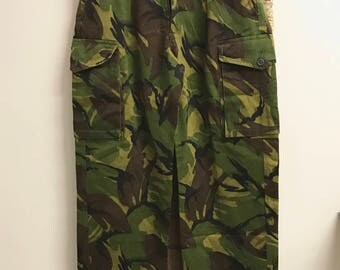 vintage 90s British army military combat camouflage trousers