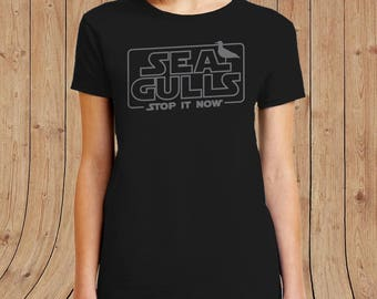 Seagulls Stop It Now Ladies PREMIUM SOFTSTYLE TShirt  Funny T Shirts