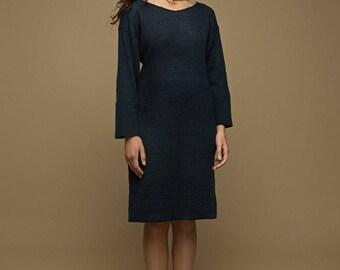 Natural Minimalist Mohair Dress