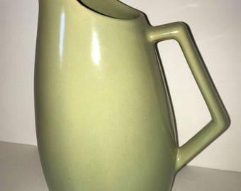 Vintage La Solana Mid-Century Modern 1950s Sage Green Water Tea Pitcher RARE