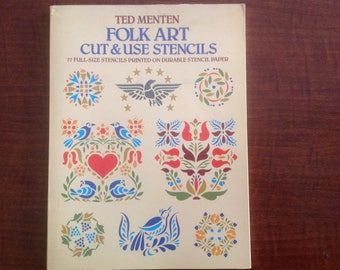 Folk art cut and use stencils dover publication