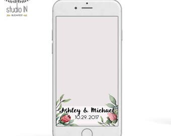 SNAPCHAT GEOFILTER, Custom Snapchat Geofilter, PROTEA Wedding geofilter, protea Snapchat filter, protea wedding, floral geofilter