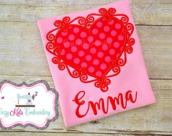 Valentine's Day Puppy Love shirt girl boy child kid baby toddler infant custom personalized monogram name