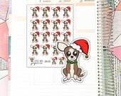 SHEL013 Sheldon Santa Hat // Planner Stickers