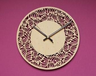 Decorative clocks / Design wall clock / Modern wall art / Kitchen wall clock / Modern clock large / Wall clock for living room / Wall clock