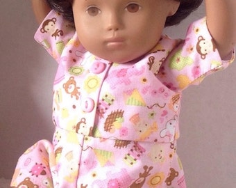 Sasha Doll Baby Cotton Playsuit/Romper - Nursery Playthings