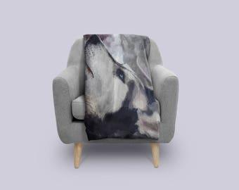 Husky Fleece Blanket,Husky dog,Husky gifts,Husky mom,Husky Blanket,Husky Lover, Siberian Husky Blanket, Huskies, Gift For Pet Owner,