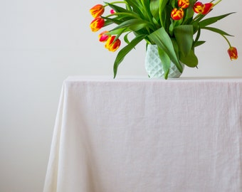 Table cloth off white, Linen tablecloth, Table cloth overlay, Farmhouse tablecloth, Table cloth rectangle for wedding, Burlap table cloth