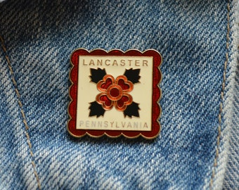 Adorable Vintage Lancaster PA Lapel Pin