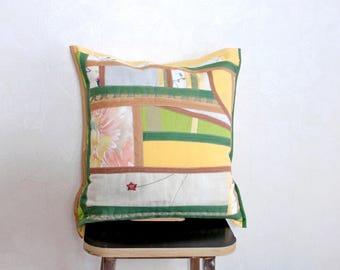 Taie d'oreiller décorative coton Cadeau pour maman Pour jeune mariée Coussin décor jaune vert Housse d'oreiller Cadeau pour femme