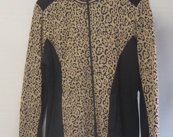"Ruby Red ""Show Your Spots"" top w/animal print, PL.  With tags, never worn !"