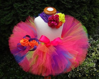 Neon Tutu, Birthday Tutu, Sewn Tutu, Party Tutu, 80s Tutu, Baby Tutu, Toddler Tutu, Newborn Tutu, Infant Tutu, Tutu, Cakesmash Tutu