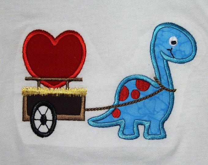 Boy Valentine's Day shirt, Boys long sleeve Valentine shirt, Dinosaur shirt, Heart shirt, Blue dinosaur,Girls Valentine's Day shirt, Girl