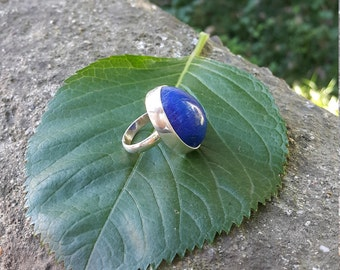 Lapis Lazuli Ring - Handmade & Silver, Natural - Lapis Lazuli Jewelry