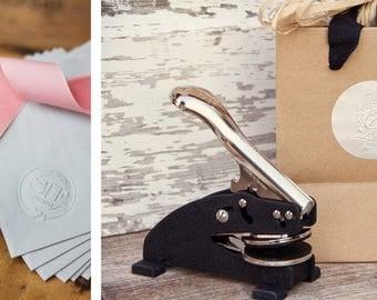 Customized Embosser Stamp, Wedding Gift, Wedding Invitation, Engagement, Bridal Shower, Embossing Stamp, Wedding Seal, Personalized Stamp