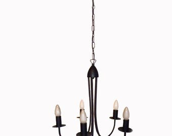 Chandelier Light 5 Arms, Lampadario 5 Braccia, Farmhouse Lighting, Country,  Fixer Upper