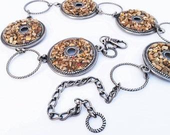 Vintage Chain Belt in silver