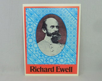 "1974 Richard ""Baldy"" Ewell Poster - Confederate Civil War Lieutenant General CSA - 10"" x 13"""