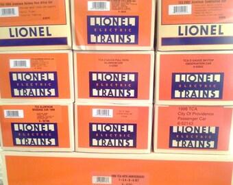 LIONEL Trains #6-11737 TCA 40TH Anniversary Train Set F-3 ABA, 9 Aluminum Cars + 40th Ann Caboose + Lionel Factory Replacement Shells New