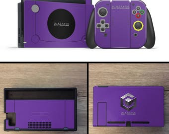 Gamecube Themed Nintendo switch joycon controller skin