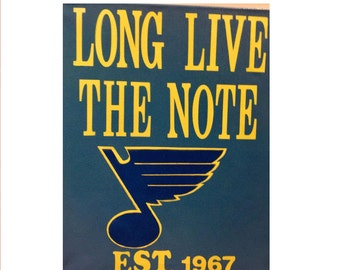Long Live the Note - Custom Painted Canvas