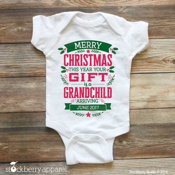 Christmas Pregnancy Announcement Christmas Baby Announcement – Grandparents Baby Announcement