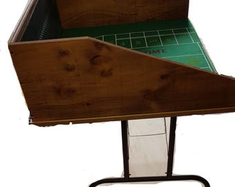Craps table with legs