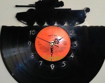 Tank Themed Vinyl Record Clock