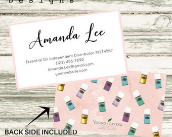 Essential Oil Distributor Business Card   Personalized   Young Living Distributor