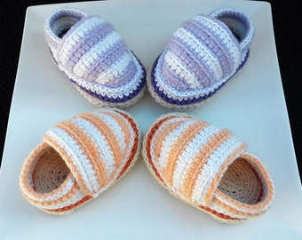 Crochet baby shoes- Baby Espadrilles- Crochet espadrilles- Baby shoes- Gift for baby- Baby slippers- Unique baby gift