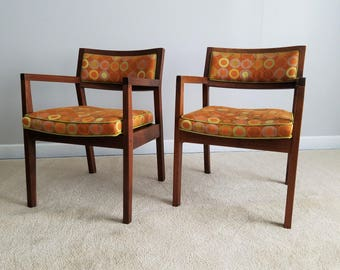 Vintage Walnut Accent Chairs - Great Retro Style