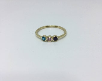 Womens Gift, Gold Ring, Family Jewelry,Gold Birthstone Ring, Family Ring, Gold Ring, Birthstone Ring, Mothers Day gifts For mothers
