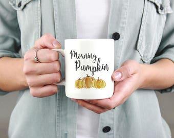 Morning Pumpkin Mug, Coffee Mug, Fall Mug, Autumn Mug, Good Morning, Gift for Her, Fall Coffee Mug