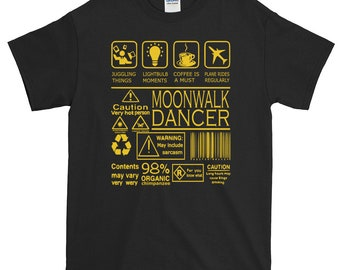 Funny Moonwalk Shirt Amusing Moonwalk Tees Moonwalk Dance Funniest Moonwalk Gift
