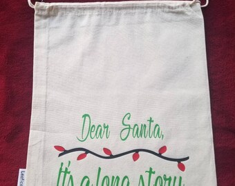 Holiday Sack - Dear Santa.