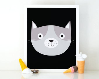 Cat print, Kitten print, Cute baby animal, printable wall art, room decor, Nursery decor, cute wall art, nursery wall art, Cat lover poster