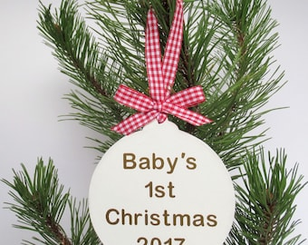 Baby First Christmas - 1st Christmas Bauble - First Christmas Baby - 1st Christmas Baby - Personalised Bauble - Christmas Bauble - Xmas