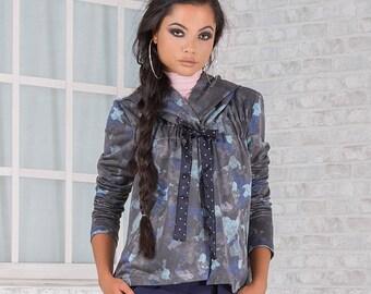 Sport Elegant Jacket/ Blue Jacket/ Extravagant Jacket/ Colorful Jacket/ Different Jacket/ Hoodie Jacket/ Casual Jacket/ Friends Fashion