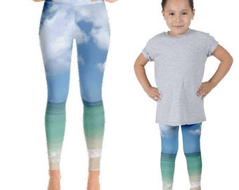 Mommy and Me Tropical Yoga Pants Set | Mother Daughter | Mommy and Me Yoga | Mommy and Me Clothes | Mommy and Me Outfit | yoga pants set