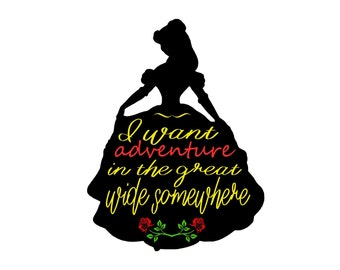 Beauty And The Beast Belle Disney SVG Digital File