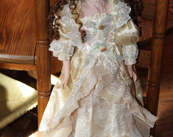 2 Foot 5 Inch Victorian Porcelain Doll