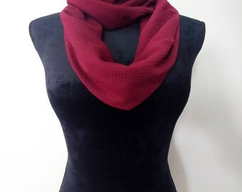 Maroon infinity scarf, circle scarf
