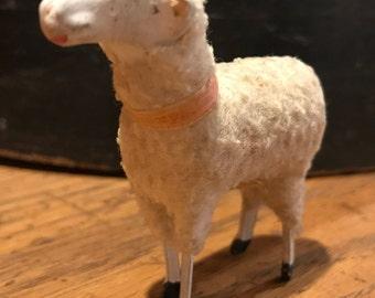 Stick Sheep - Putz Sheep - German Stick Sheep - German Putz Sheep - Stick Leg Sheep - Woolly Sheep - Easter Lamb - Vintage Nativity