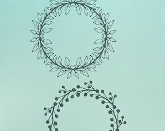 Wreath Svg / Berry Wreath / Svg / Leaf Wreath / Leaf Svg / Berry Svg / Wreath Dxf / Wreath Png / Leaf Dxf / Leaf Png